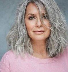 Cortes modernos para cabelos grisalhos