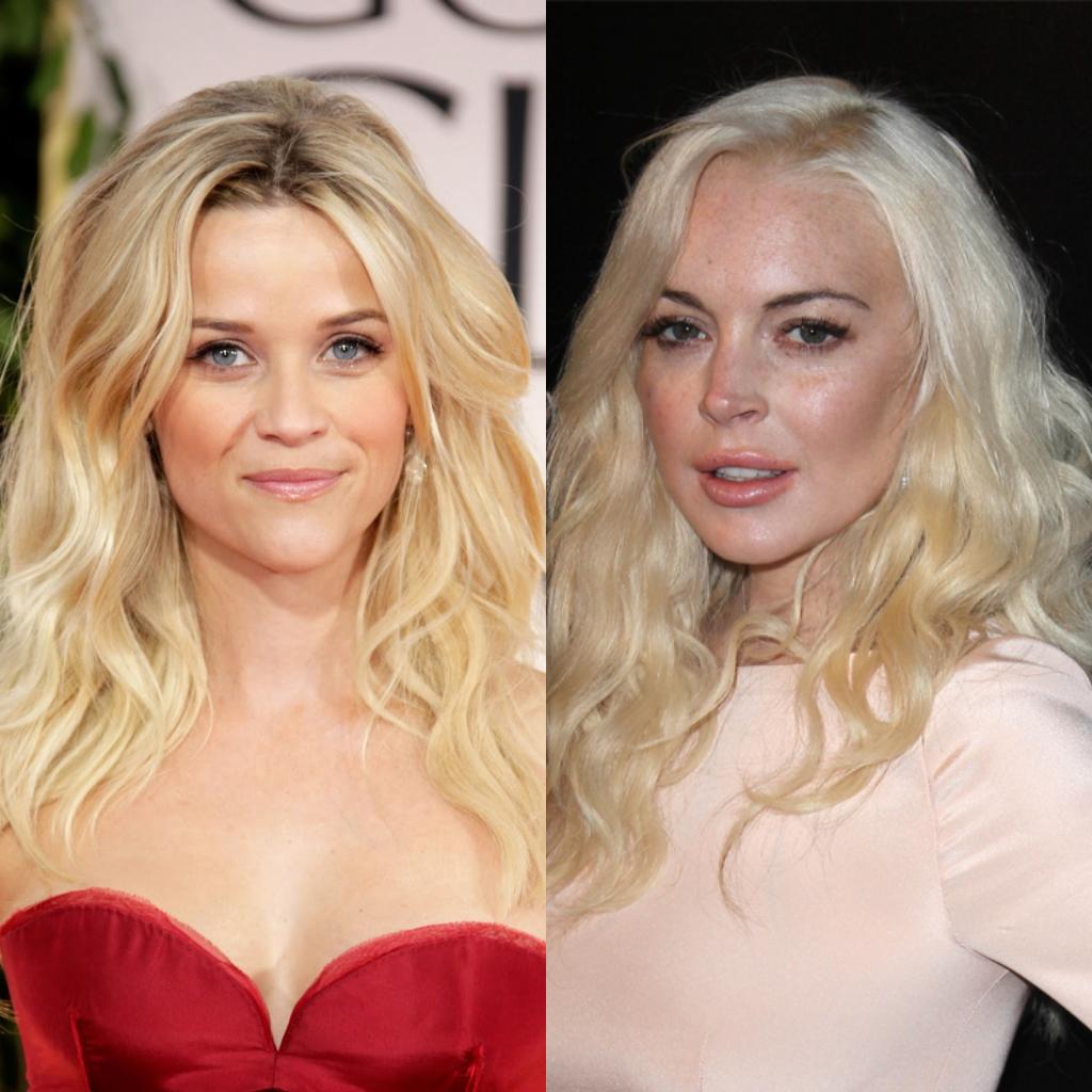 Imagem com duas mulheres demonstrando que o mesmo tom de  loiro pode responder de forma positiva em uma e negativa na outra.