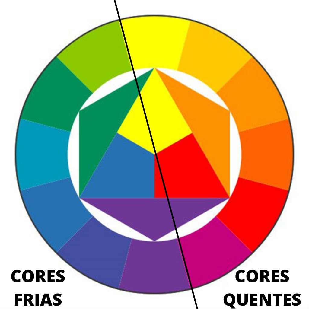 Figura da roda de cores utilizada para definir o loiro ideal